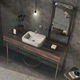 lavabo sobre encimera / rectangular / de hormigón / contemporáneo