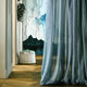 tela para cortinas / de color liso / de poliéster / lavable