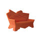 sofá de diseño original / de exterior / naranja / de plástico
