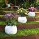 jardinera de plástico / redonda / contemporánea