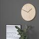 reloj contemporáneo / analógico / de pared / de acero