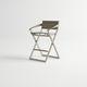 silla de bar contemporánea / con reposabrazos / de Textilene® / de aluminio