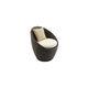 silla de jardín moderna / giratoria / de ratán