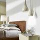 lámpara suspendida / de cerámica / contemporánea / de interior