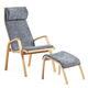 sillón moderno / de cuero / de haya / de contrachapado