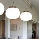 lámpara suspendida / contemporánea / de níquel / de vidrio opalescente