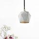 lámpara suspendida / moderna / de hormigón / hecha a mano