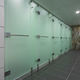 cabina sanitaria para ducha para baño público / de vidrio