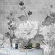 papel pintado contemporáneo / de fibra de celulosa / de fibras naturales / con motivos florales