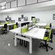 escritorio para open space / de acero / de melamina / moderno