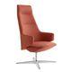 sillón contemporáneo / de tejido / de aluminio pulido / giratorio