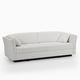 sofá cama / contemporáneo / de tejido / contract
