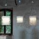 lámpara suspendida / de diseño original / de papel / de interior
