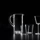 jarra de vidrio soplado / para el sector servicios / para uso doméstico
