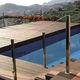cubierta para piscina automática / de seguridad / con barras / sumergida