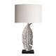 lámpara de mesa / moderna / de latón / de níquel