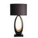 lámpara de mesa / moderna / de latón / de lino