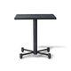 mesa moderna / de madera / con base metálica / cuadrada