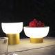 lámpara de mesa / de aluminio anodizado / de polietileno rotomoldeado / contemporánea