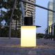 lámpara de mesa / de hierro / de polietileno rotomoldeado / contemporánea