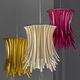 lámpara suspendida / contemporánea / de material compuesto / hecha a mano