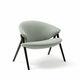 sillón contemporáneo / de tejido / de cuero / de arce