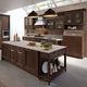 cocina clásica / de madera lacada / con isla / mate