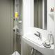 baño moderno / de cerámica / de material compuesto / para el sector servicios