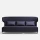sofá contemporáneo / de tejido / de cuero / de metal cromado