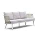 sofá contemporáneo / de jardín / de tejido / de aluminio