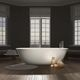 bañera ovalada / independiente / de Cristalplant® / blanca