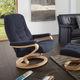 sillón relax contemporáneo / de cuero / de madera / de tejido