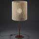 lámpara de mesa / moderna / de madera / de interior