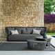 sofá moderno / de jardín / para yate / para terraza