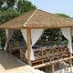 cenador de madera / para espacio público / para el sector servicios / para hotel