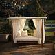 cama de jardín de diseño original / de madera / para hotel