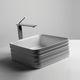 lavabo sobre encimera / cuadrado / de cerámica / contemporáneo