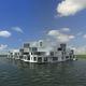 edificio prefabricado / flotante / para vivienda comunitaria / contemporáneo