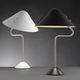 lámpara de mesa / moderna / de aluminio pintado / de acero inoxidable cepillado