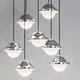 lámpara suspendida / moderna / de acero / de fibra acrílica