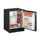 frigorífico para barco / bajo encimera / negro / con dispensador de hielo
