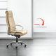 sillón de director contemporáneo / de cuero / de metal / giratorio