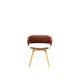 silla de visita contemporánea / tapizada / giratoria / con patas en forma de estrella