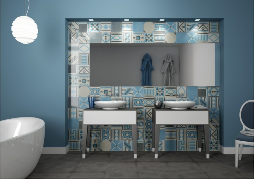 Cuartos de baño modernos por Fogazza con la ATLÁNTIDA ...