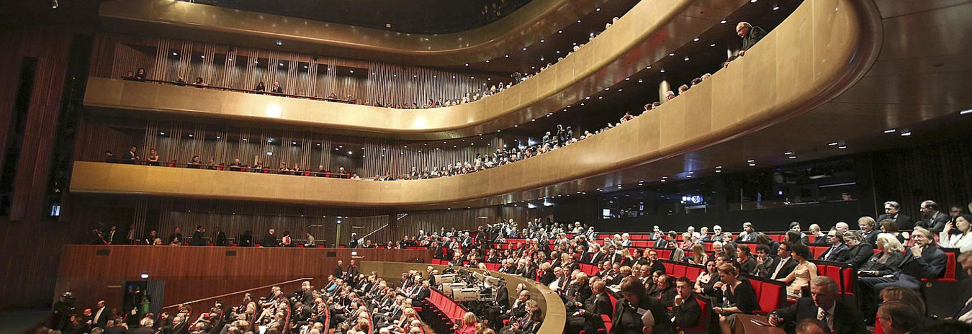 Aislamiento sano y aislamiento de vibración en el teatro de la música en Linz, Austria