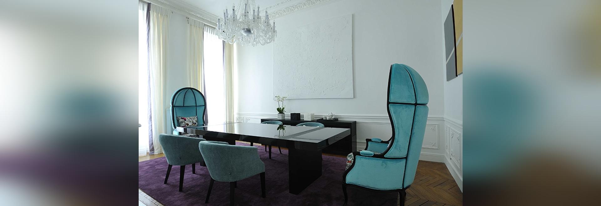 Art Chic Apartment en París diseñó por diseño de PFB y suministrado por BRABBU