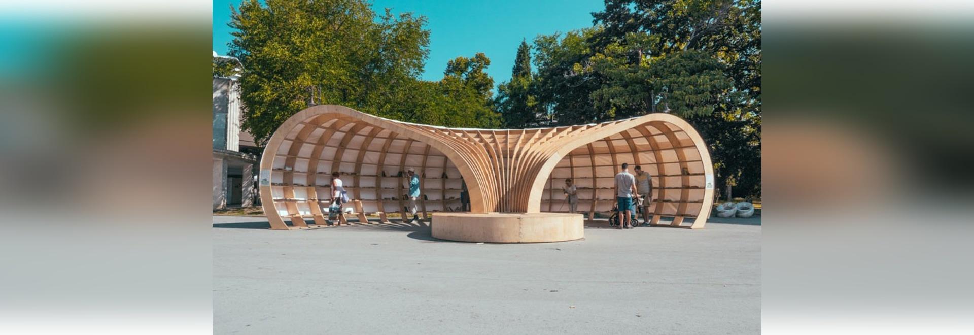 La biblioteca de la calle de Rapana fue diseñada para animar la lectura entre gente joven