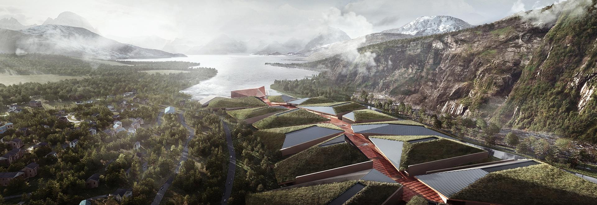 el centro de datos de los kolos en Noruega imita el movimiento de un glaciar