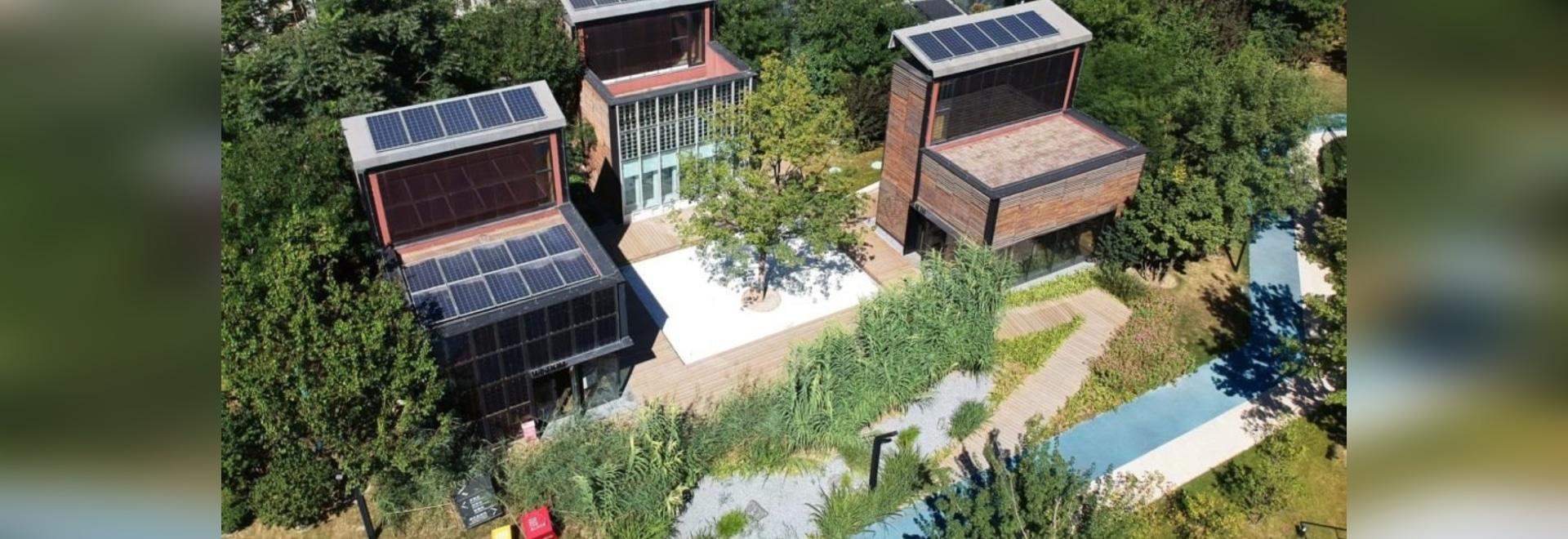 El complejo prefabricado de la madera muestra apagado tecnologías de energía de la red-cero en Pekín