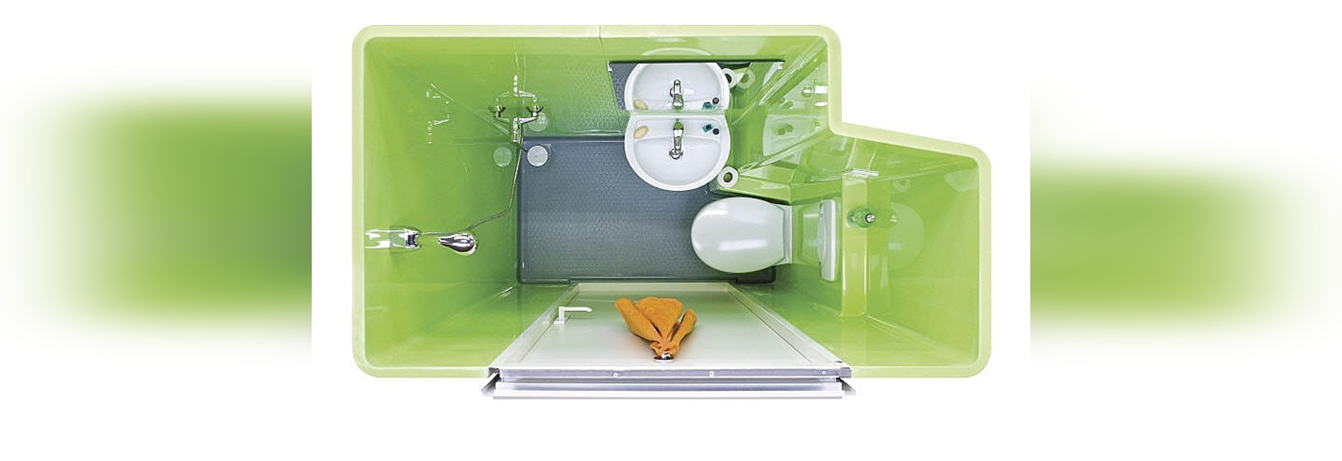 Cuarto de baño prefabricado comercial - BAUDET SA